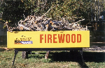 Additional firewood available at store.